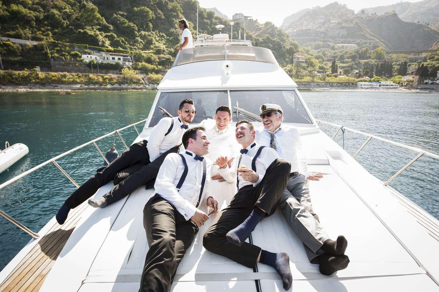 addio al celibato in barca
