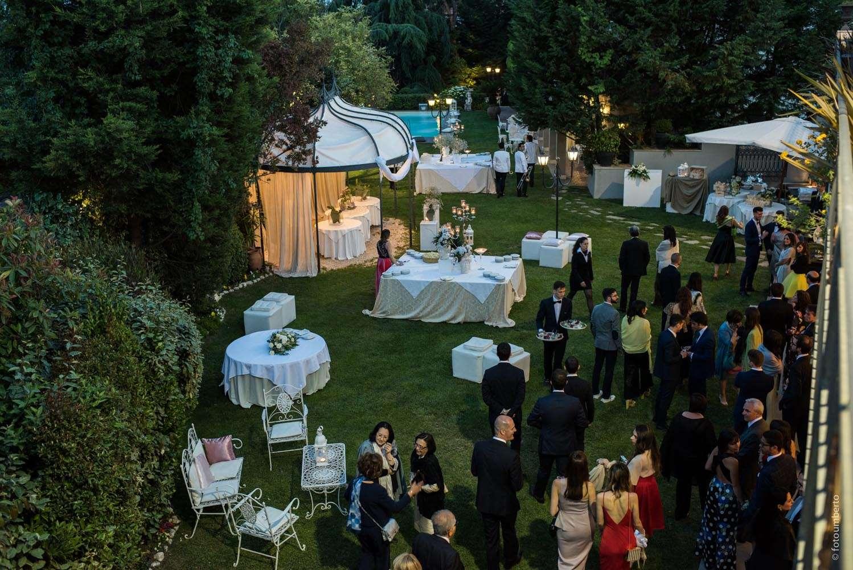 matrimonio a cena in giardino