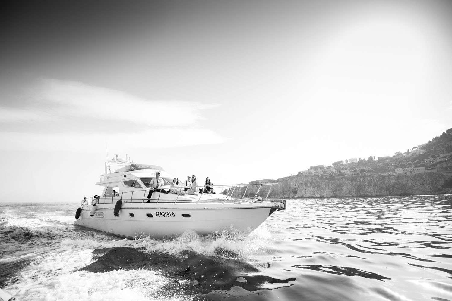 barca per matrimonio