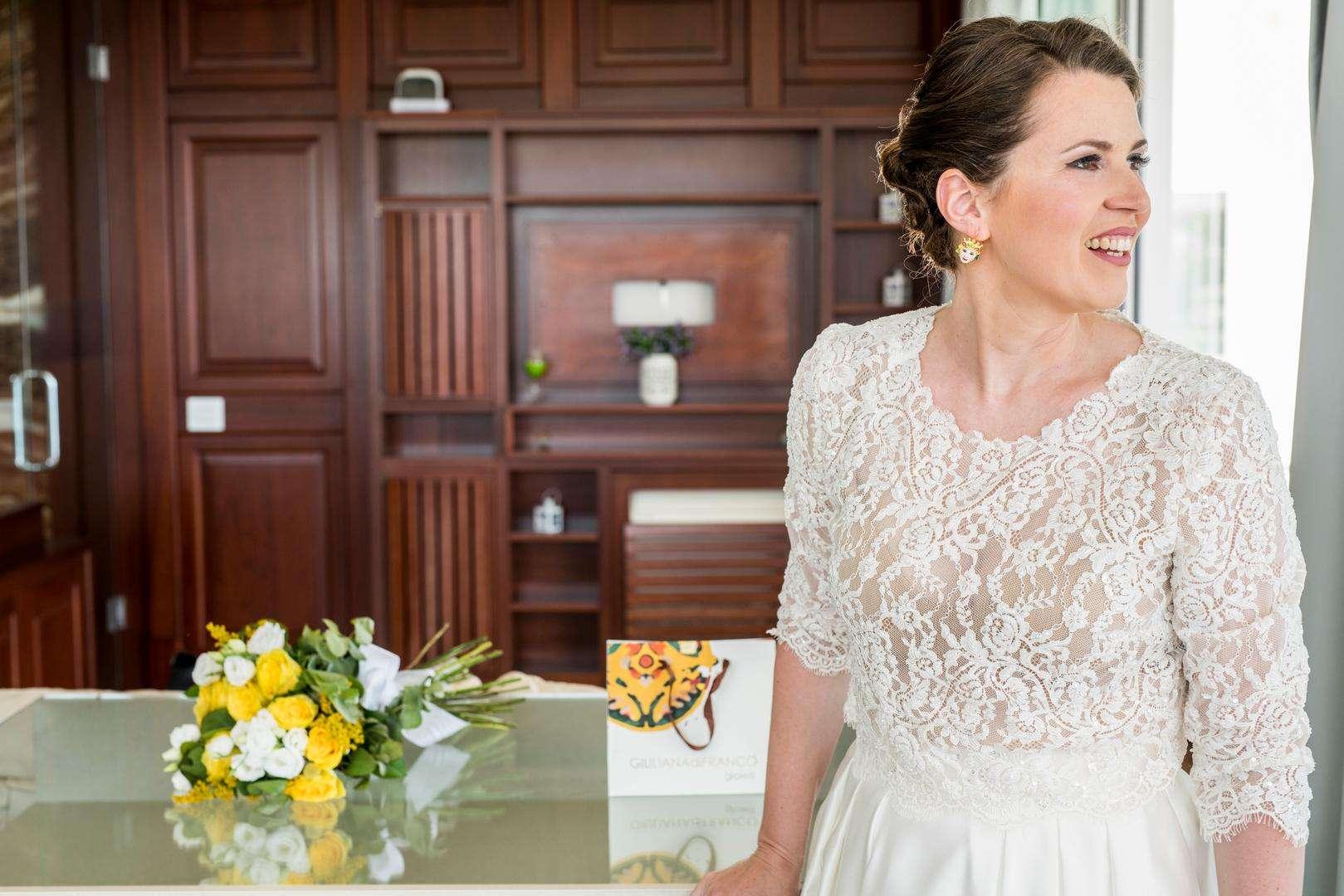 ritratto sposa in hotel