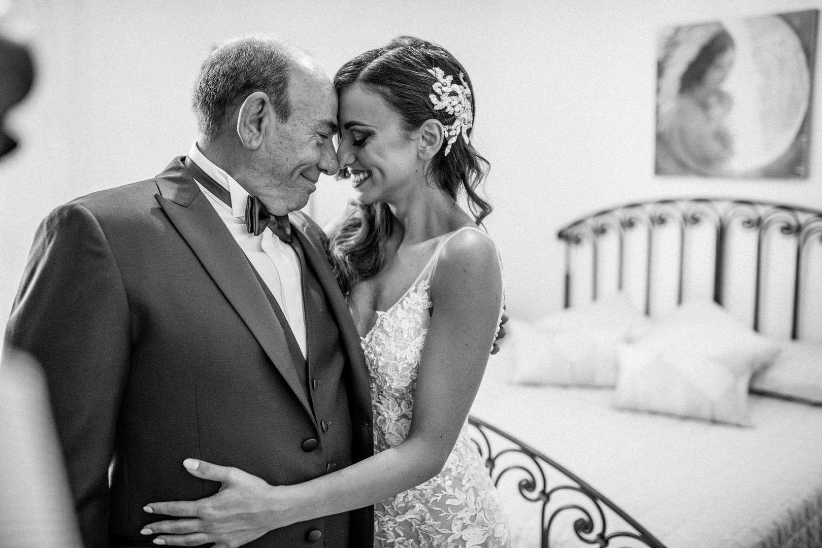 sposa con il papà