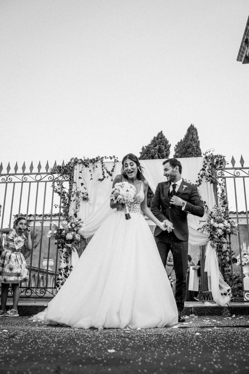 lancio del riso al matrimonio