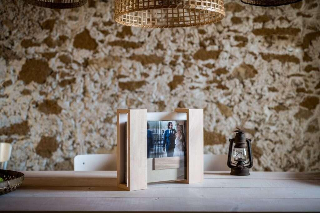 album plexiglass e legno